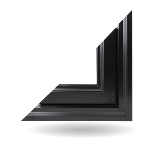 Hybrid PVC / Aluminum Fixed Windows in Black