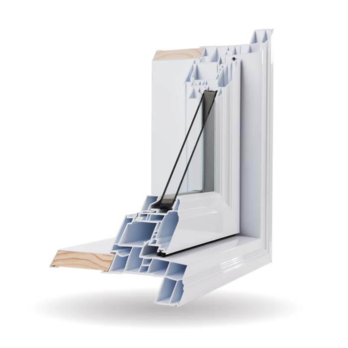 Hybrid PVC / Aluminum Casement Windows in White