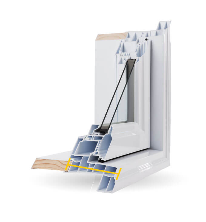 Awning Windows - 4 1/2″ PVC Welded Frame