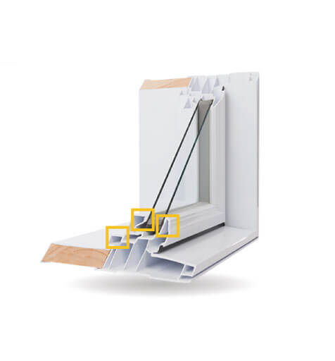 Custom Shaped Windows - Triple Weather Seals