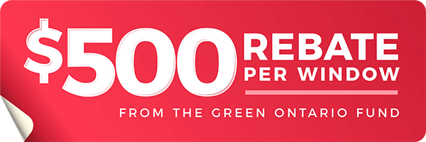 Green Ontario Fund $500 rebate on energy star Most Efficient windows graphic